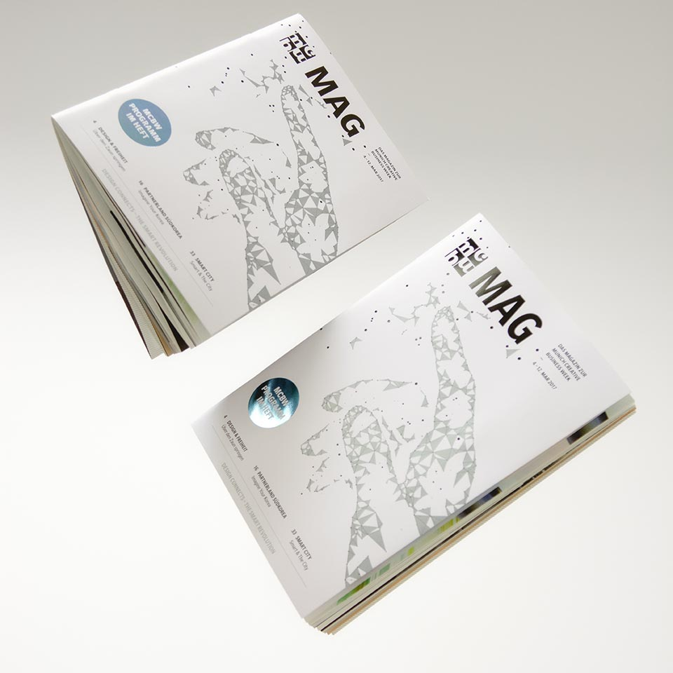 MCBW Corporate Design, Editorial Design, Magazingestaltung